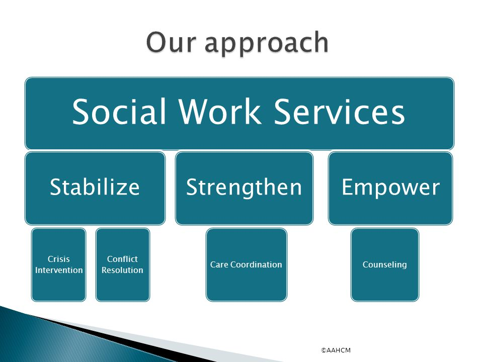 Social Work Services Our approach Stabilize Strengthen Empower