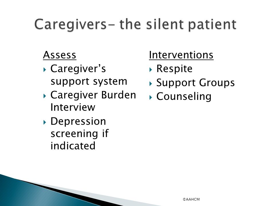 Caregivers- the silent patient