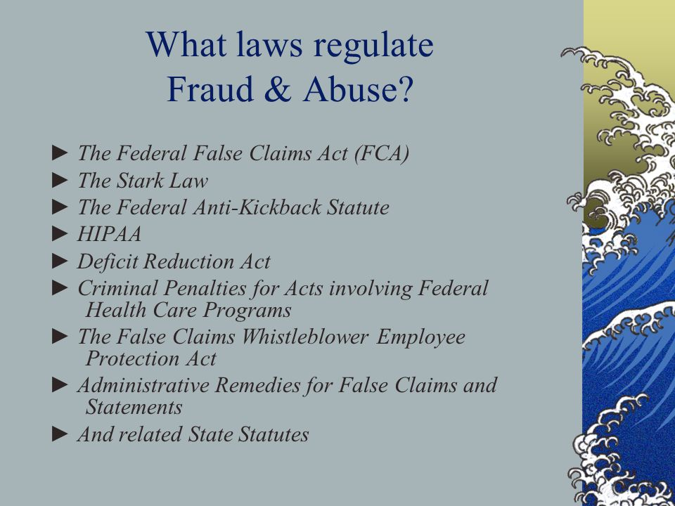 What laws regulate Fraud & Abuse