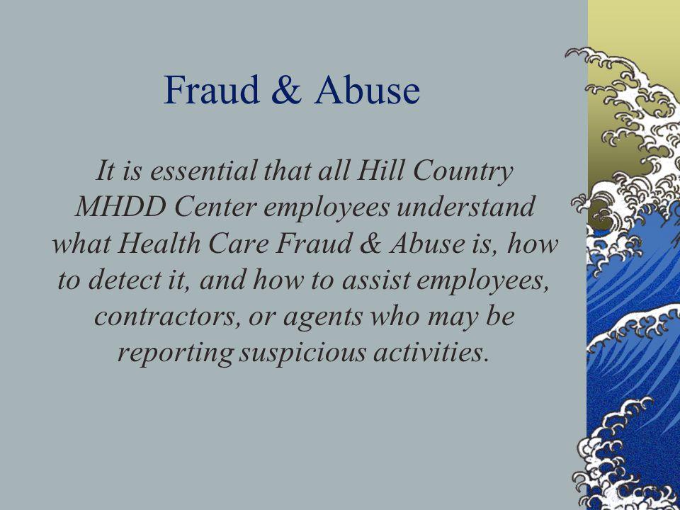Fraud & Abuse