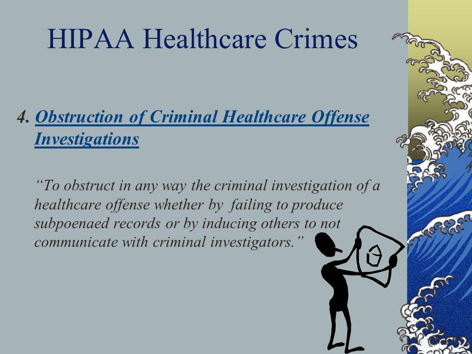 HIPAA Healthcare Crimes