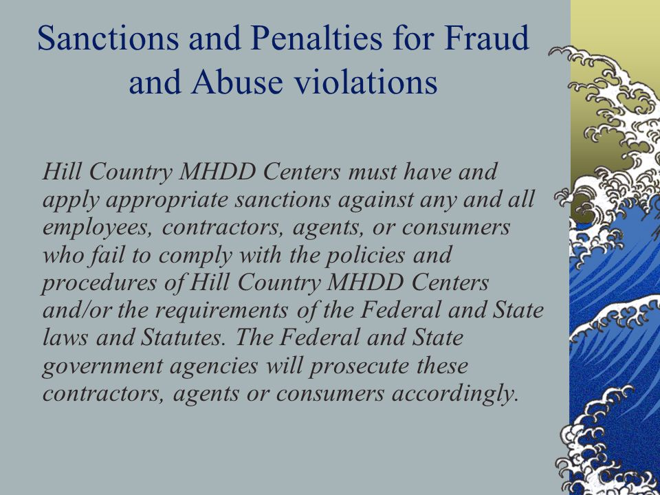 Sanctions and Penalties for Fraud and Abuse violations