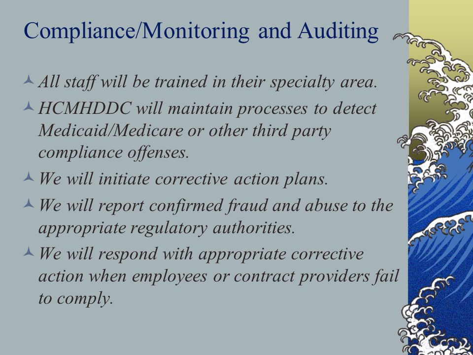 Compliance/Monitoring and Auditing