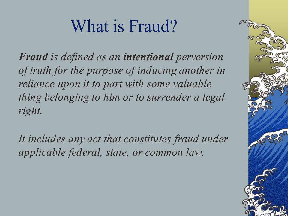 What is Fraud