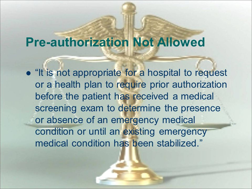 Pre-authorization Not Allowed