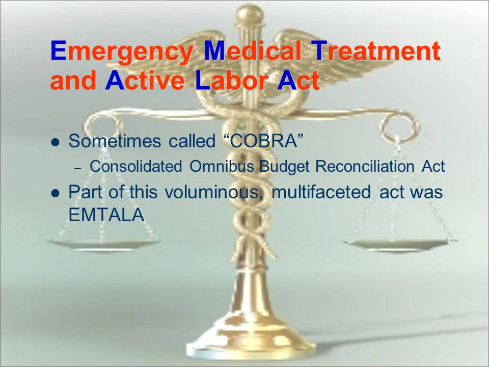 Emergency Medical Treatment and Active Labor Act