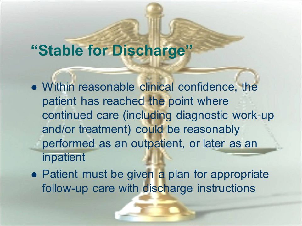 Stable for Discharge