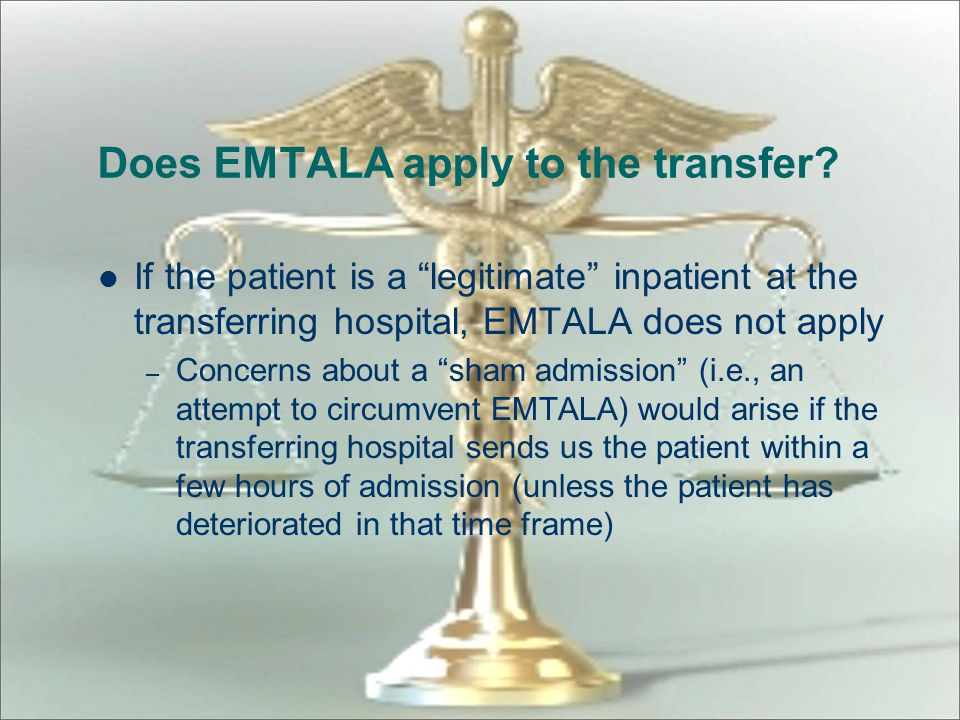 Does EMTALA apply to the transfer