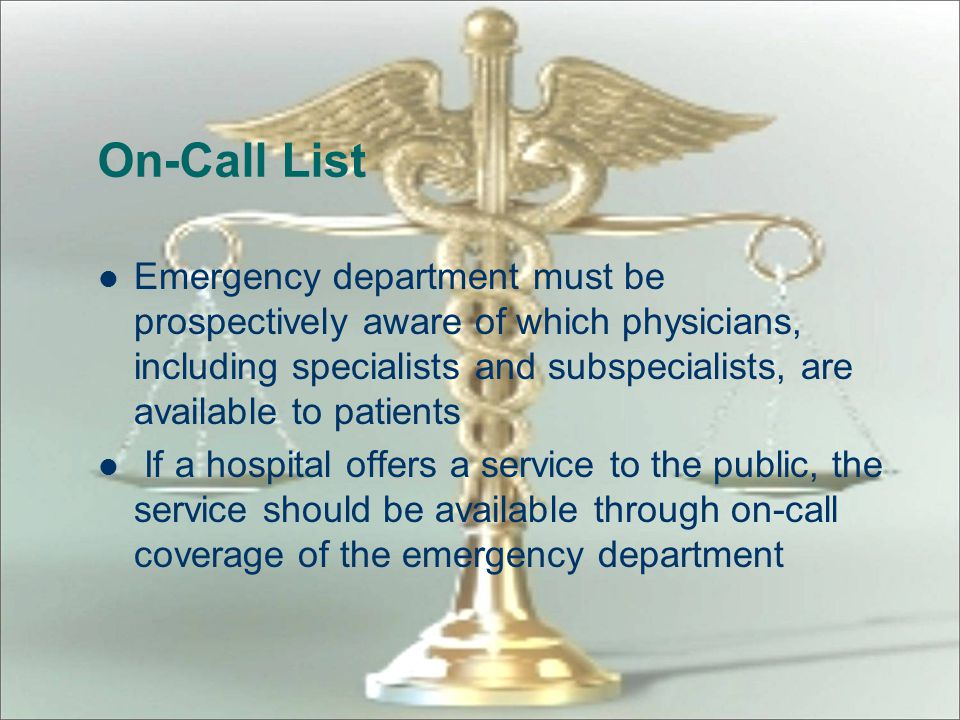 On-Call List