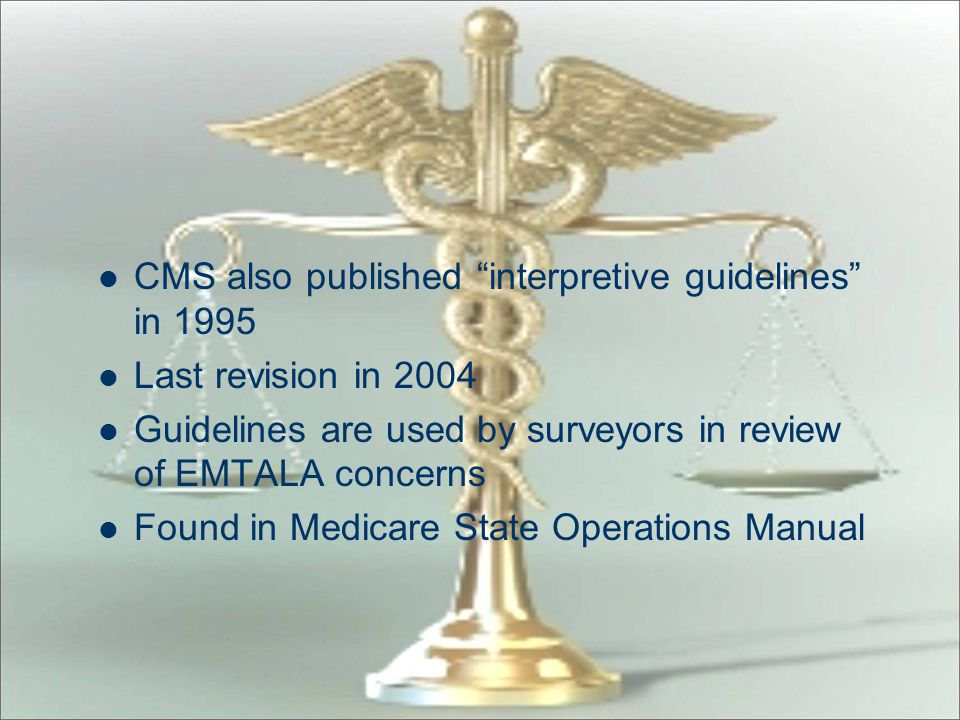 CMS also published interpretive guidelines in 1995