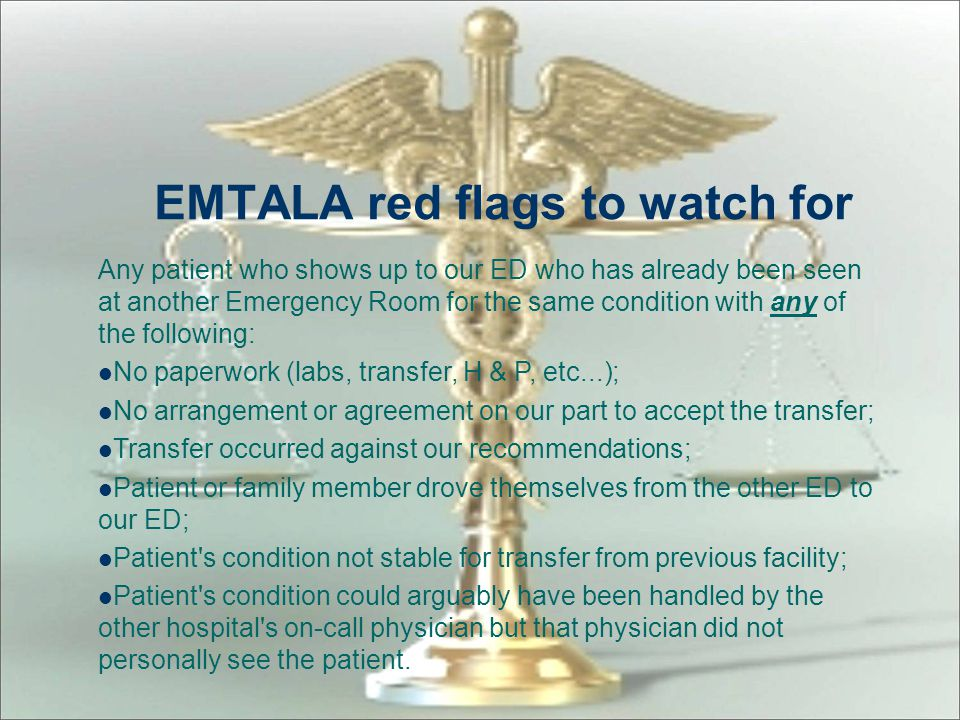 EMTALA red flags to watch for