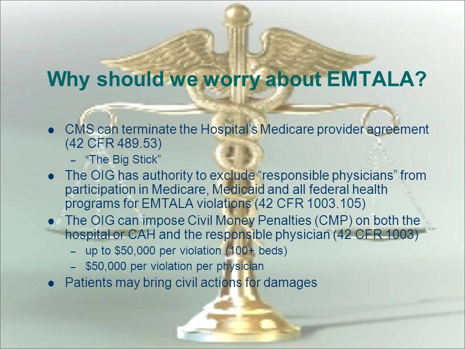 Why should we worry about EMTALA