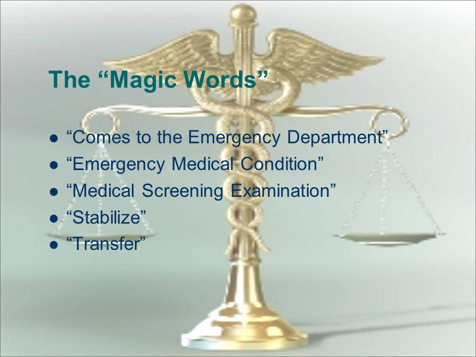 The Magic Words Comes to the Emergency Department