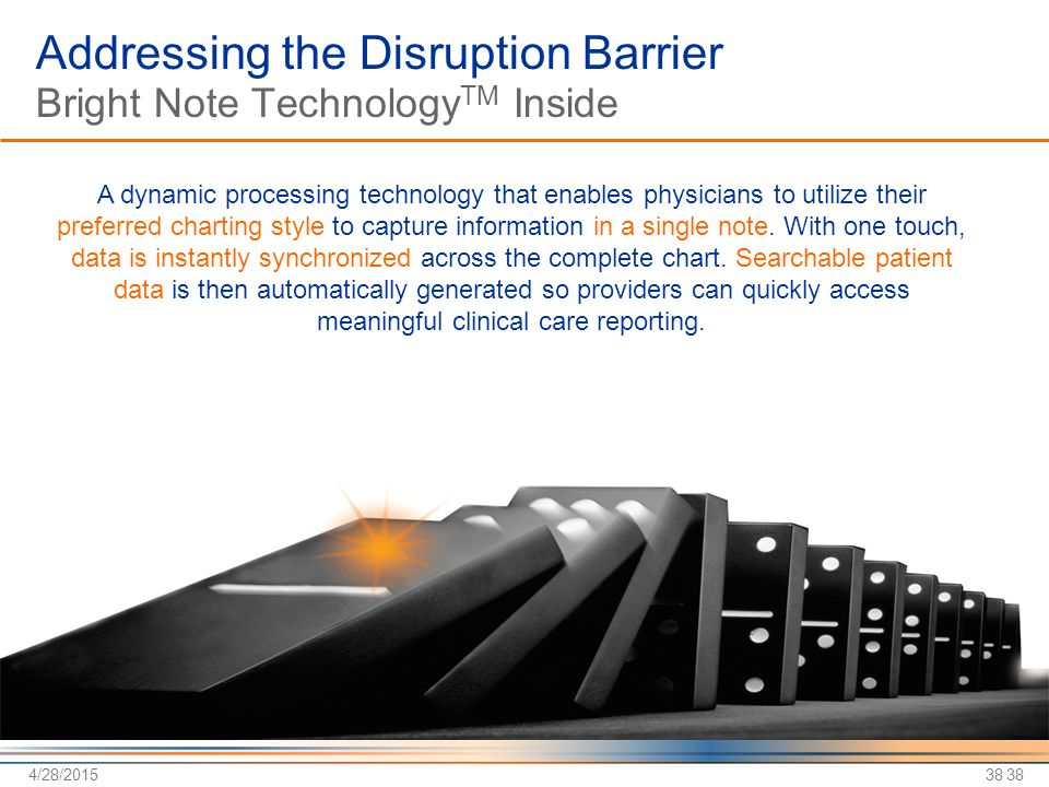 Addressing the Disruption Barrier Bright Note TechnologyTM Inside