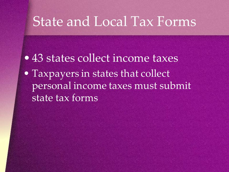 State and Local Tax Forms