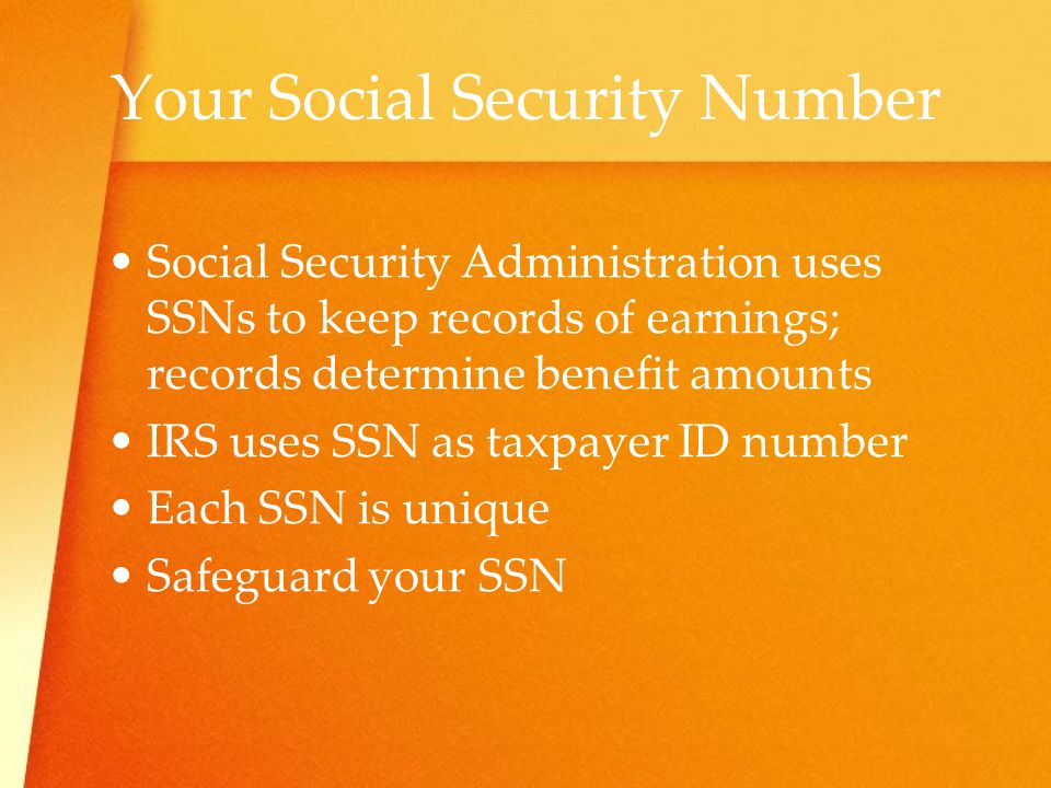 Your Social Security Number