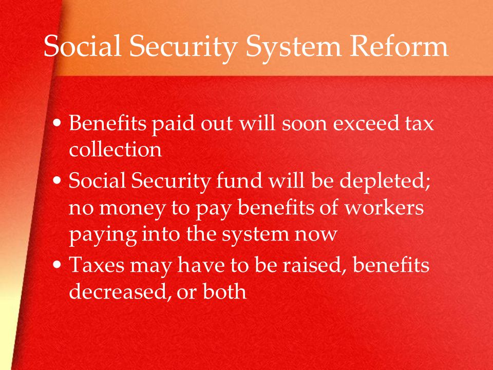 Social Security System Reform