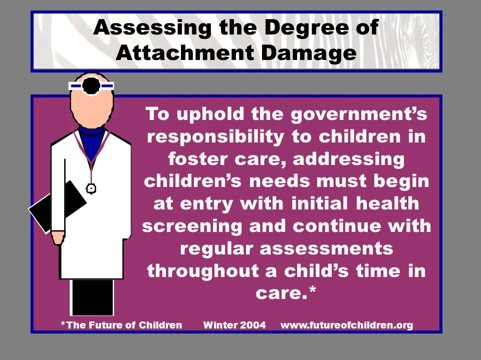 Assessing the Degree of Attachment Damage