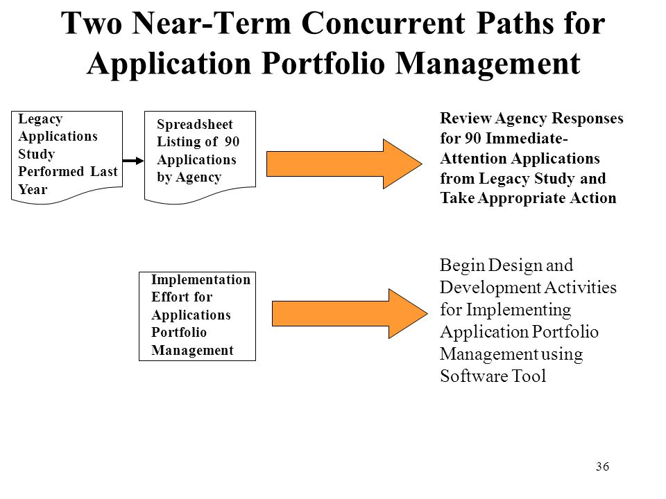 Two Near-Term Concurrent Paths for Application Portfolio Management