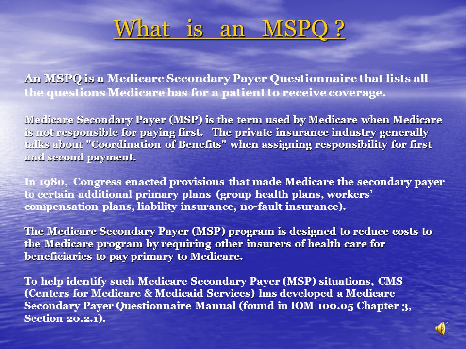 What is an MSPQ