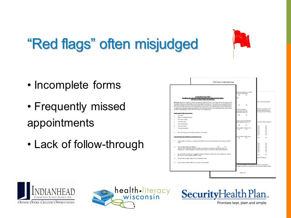 Red flags often misjudged