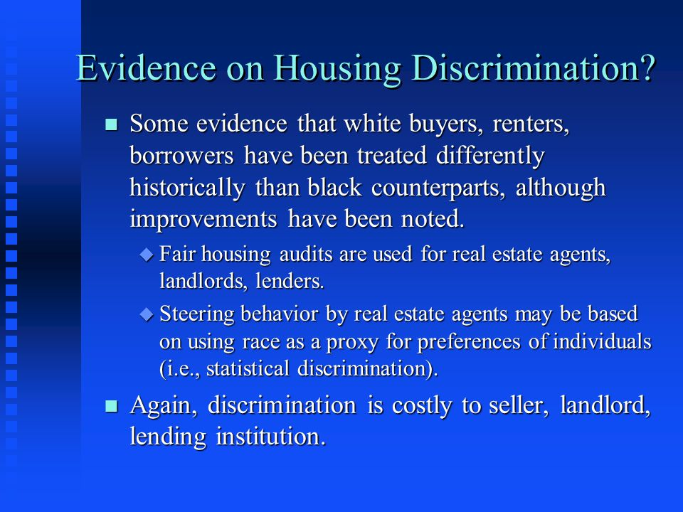 Evidence on Housing Discrimination