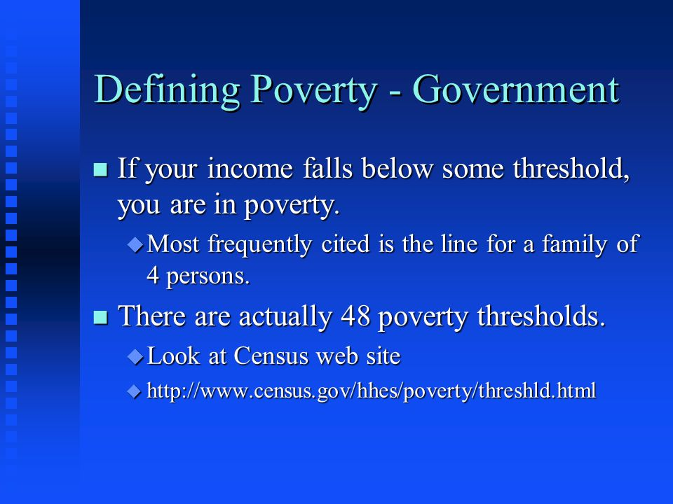 Defining Poverty - Government