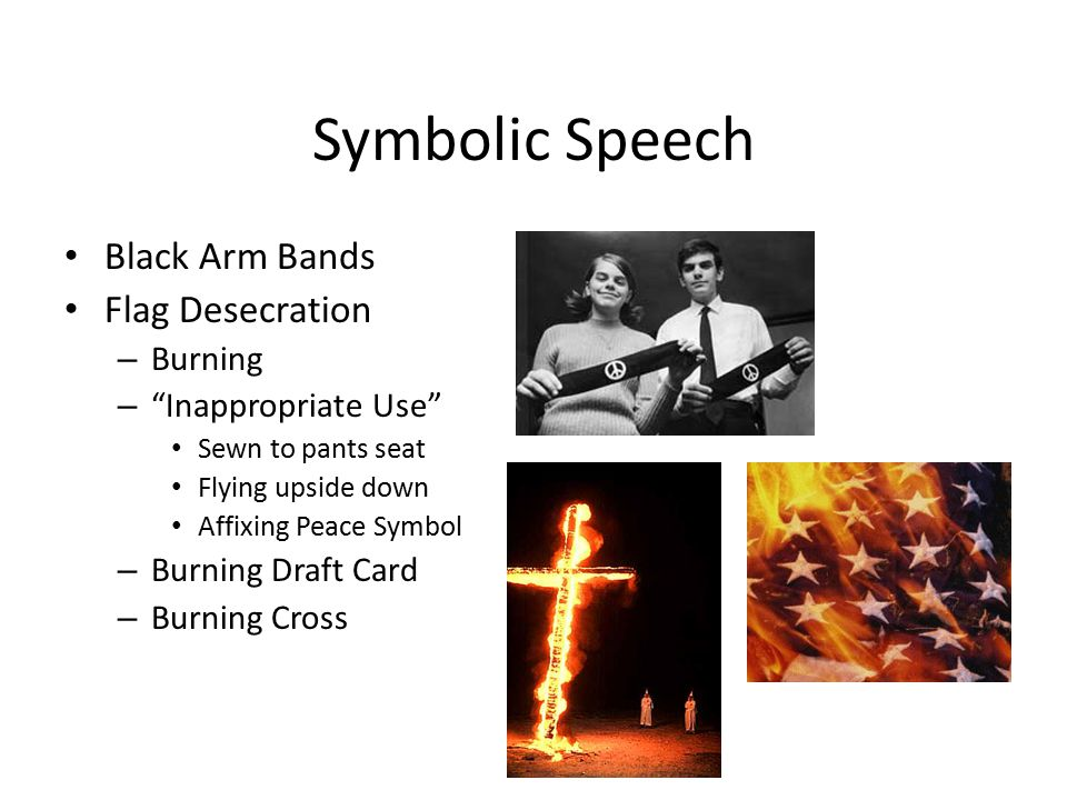 Symbolic Speech Black Arm Bands Flag Desecration Burning