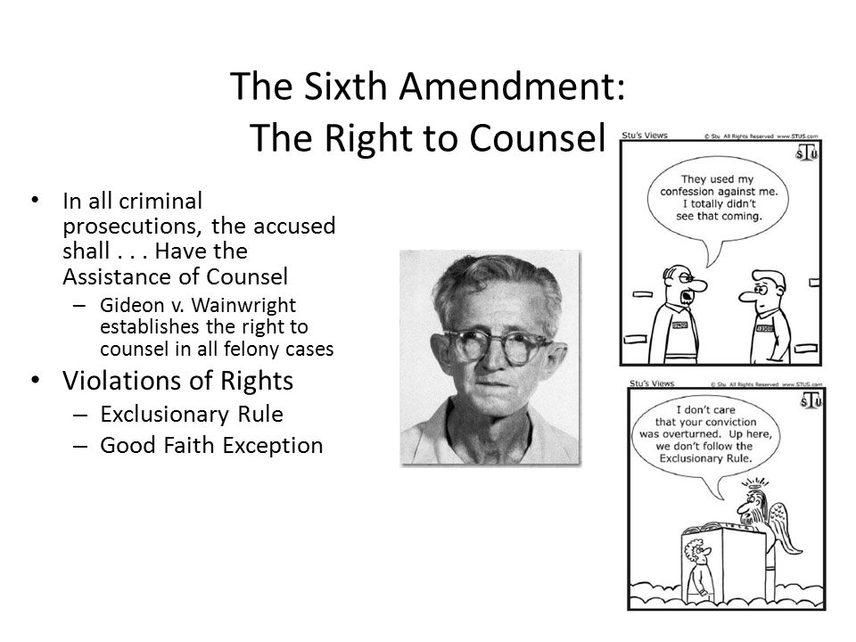 The Sixth Amendment: The Right to Counsel
