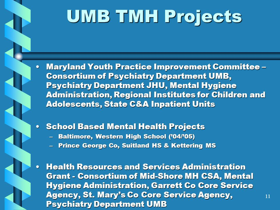 UMB TMH Projects