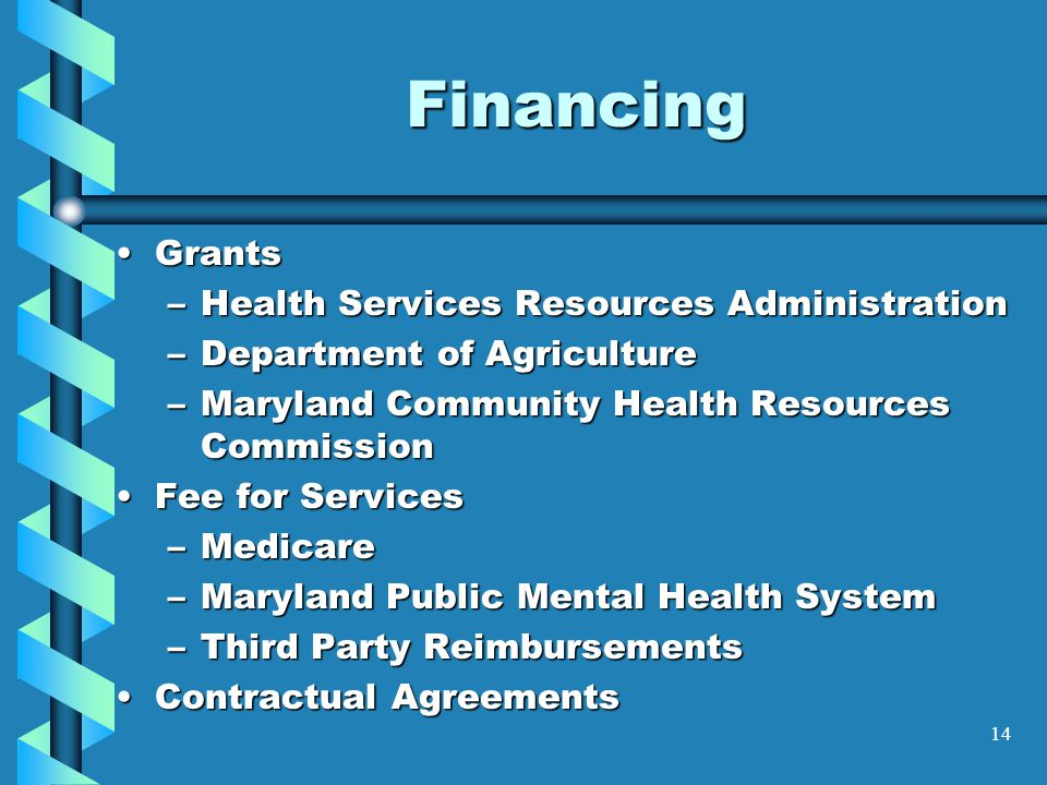 Financing Grants Health Services Resources Administration