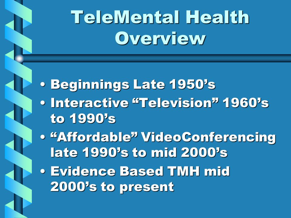 TeleMental Health Overview