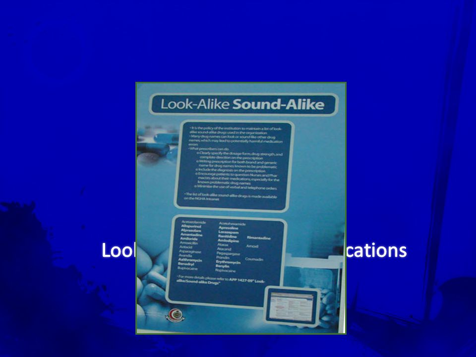 Look Alike Sound Alike Medications APP # 1429-02