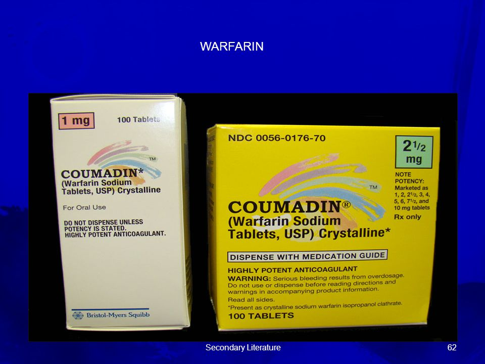 WARFARIN Secondary Literature