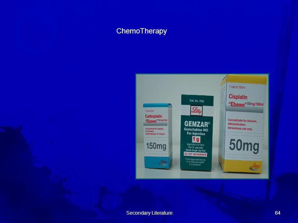 ChemoTherapy Secondary Literature