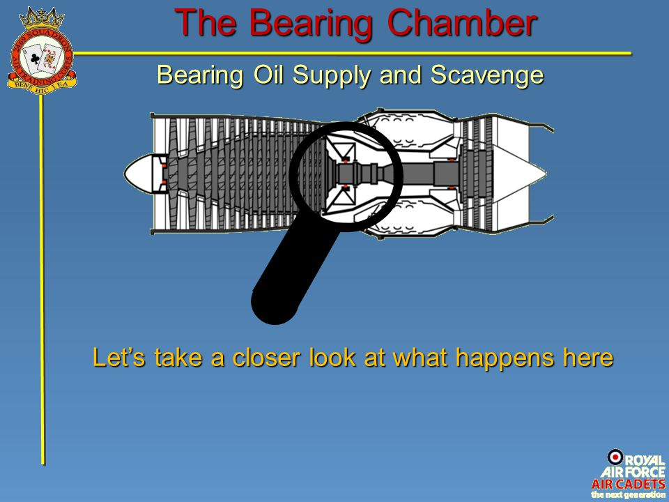 The Bearing Chamber Bearing Oil Supply and Scavenge