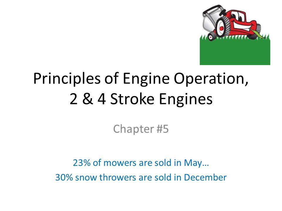 Principles of Engine Operation, 2 & 4 Stroke Engines