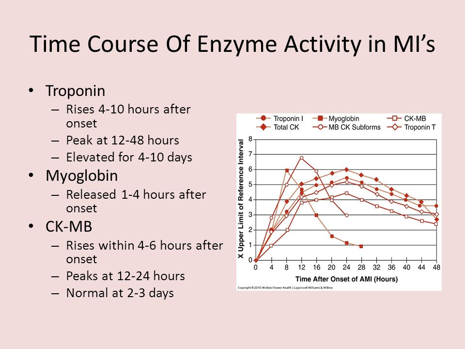 Time Course Of Enzyme Activity in MI's