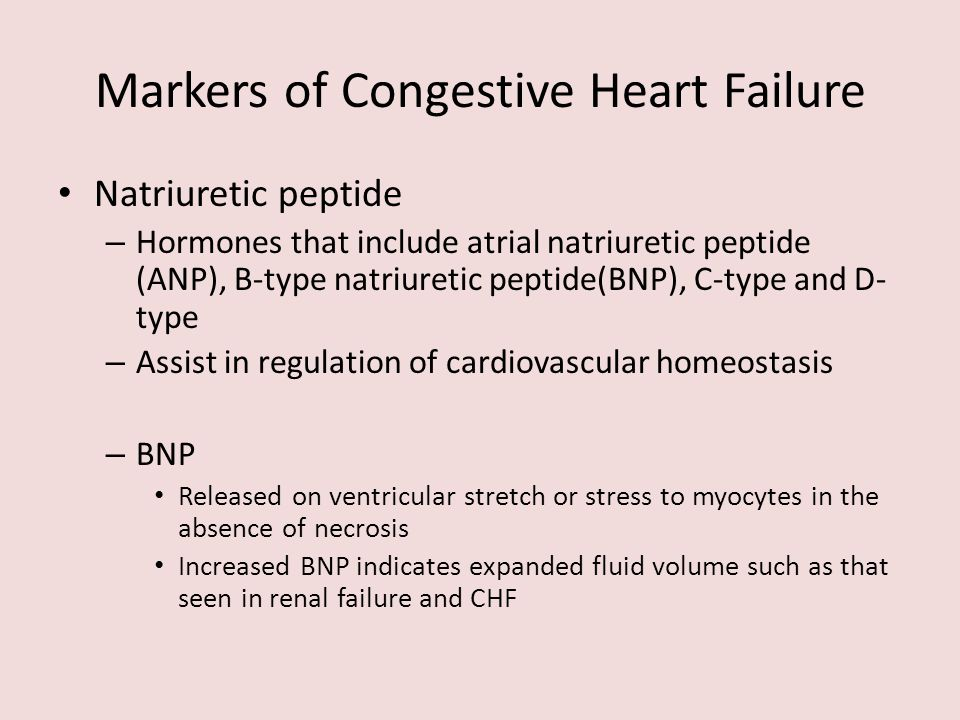 Markers of Congestive Heart Failure