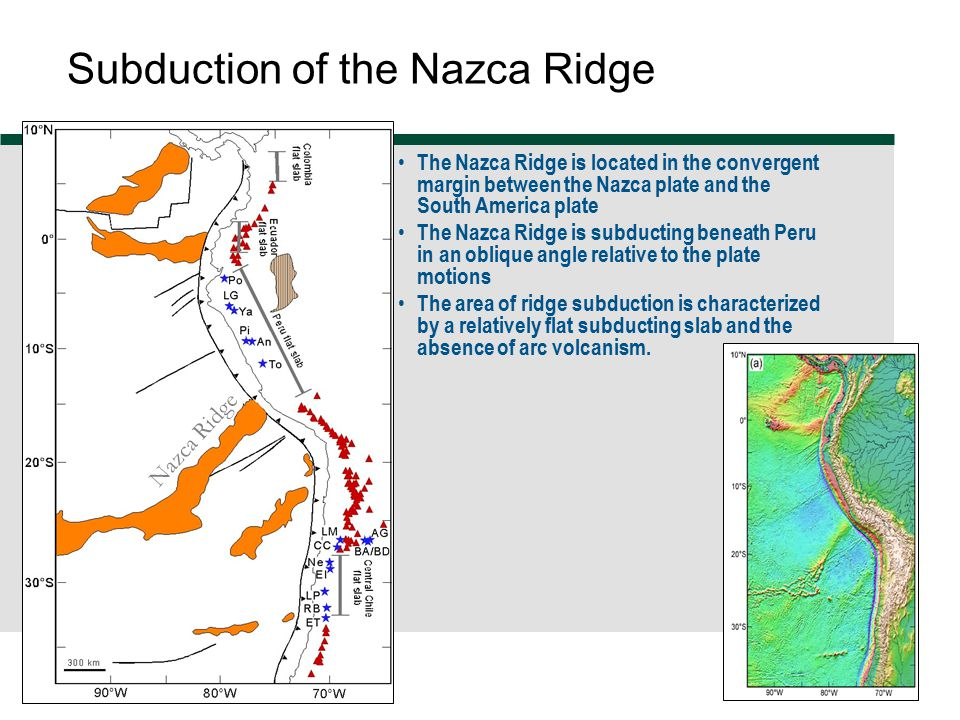 Subduction of the Nazca Ridge
