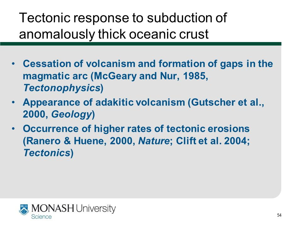 Tectonic response to subduction of anomalously thick oceanic crust