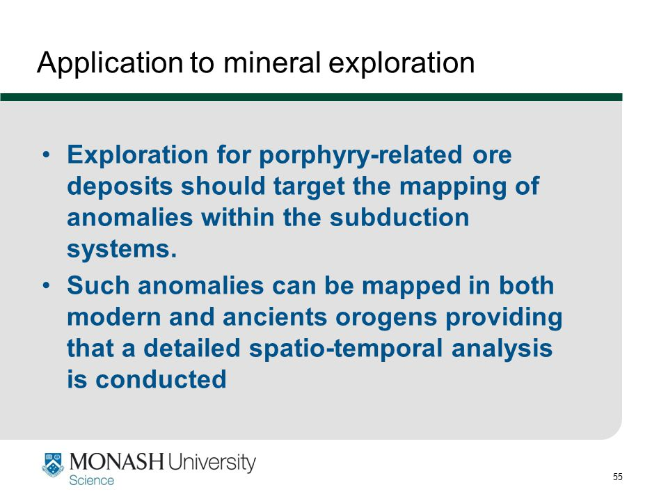 Application to mineral exploration