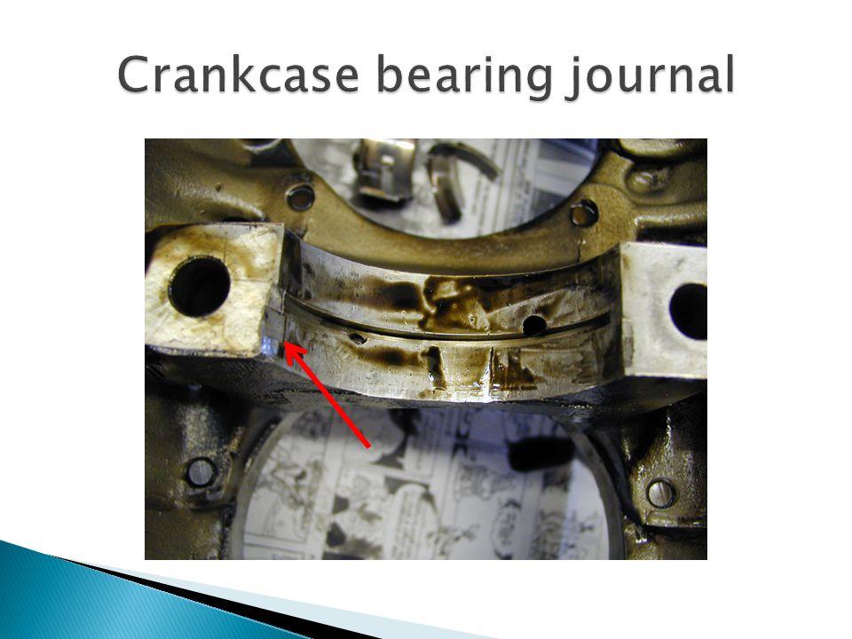 Crankcase bearing journal