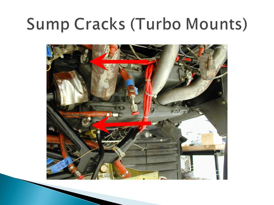 Sump Cracks (Turbo Mounts)