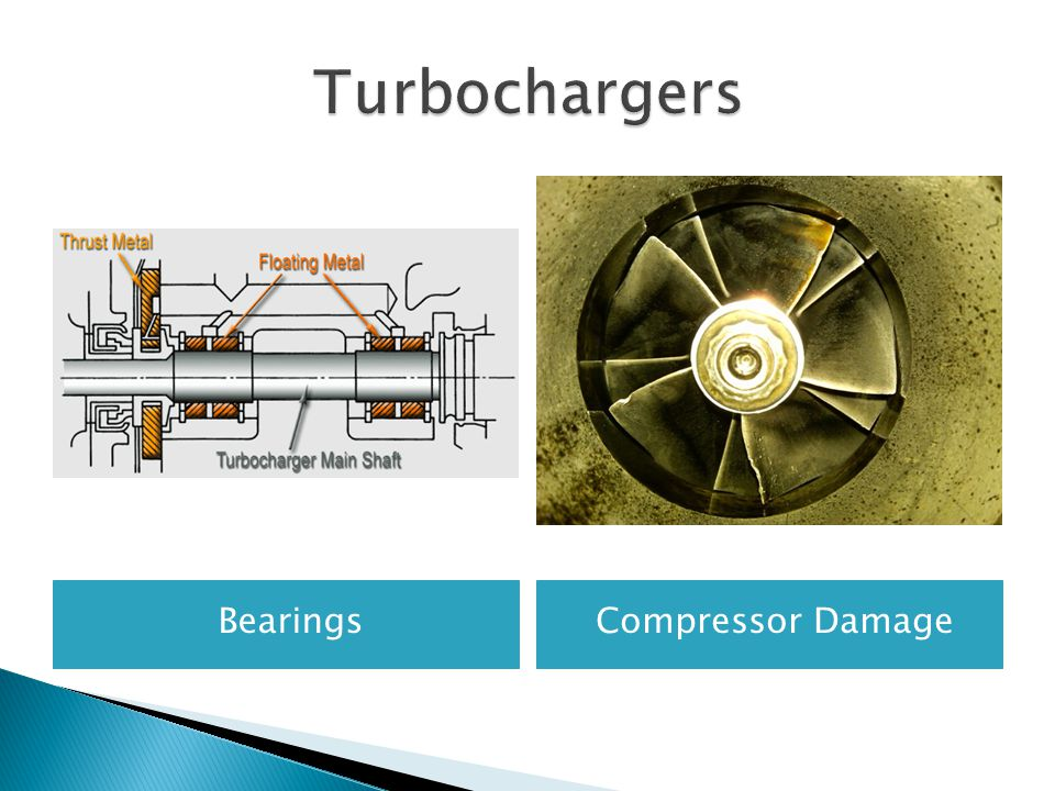 Turbochargers Bearings Compressor Damage