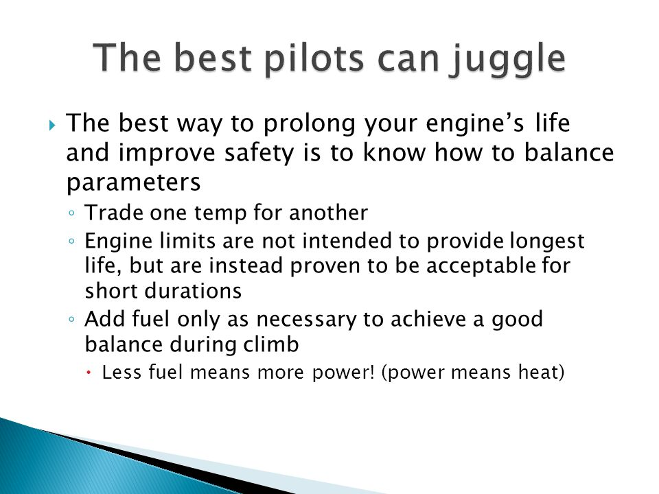 The best pilots can juggle