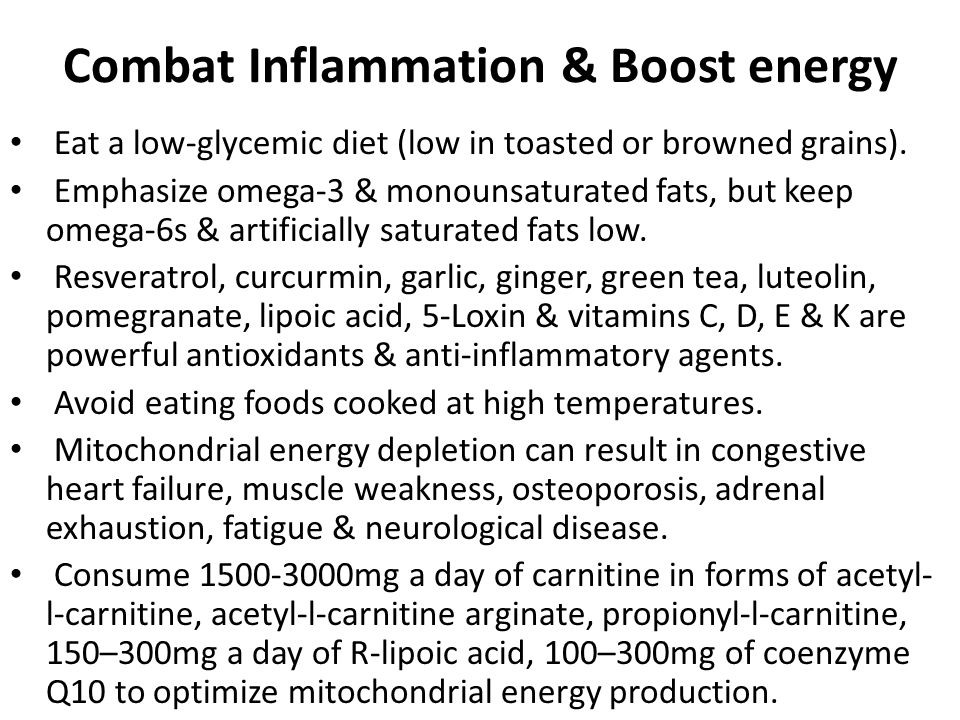 Combat Inflammation & Boost energy