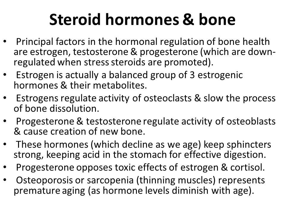 Steroid hormones & bone