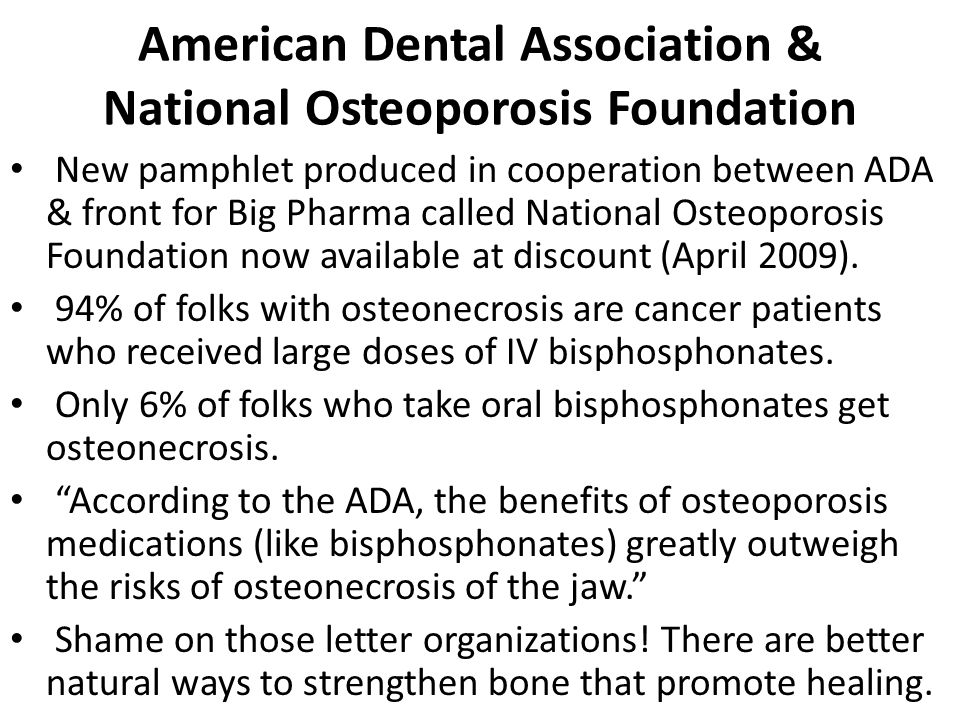 American Dental Association & National Osteoporosis Foundation
