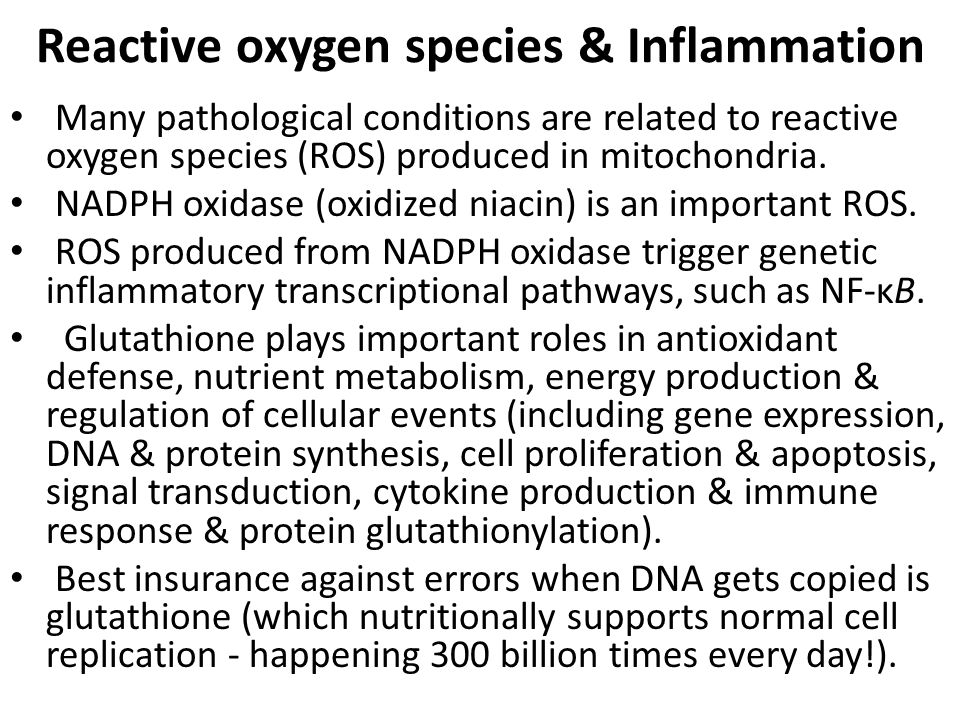Reactive oxygen species & Inflammation